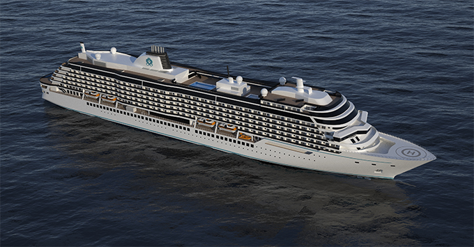 Crystal Cruises' new Diamond Class ship