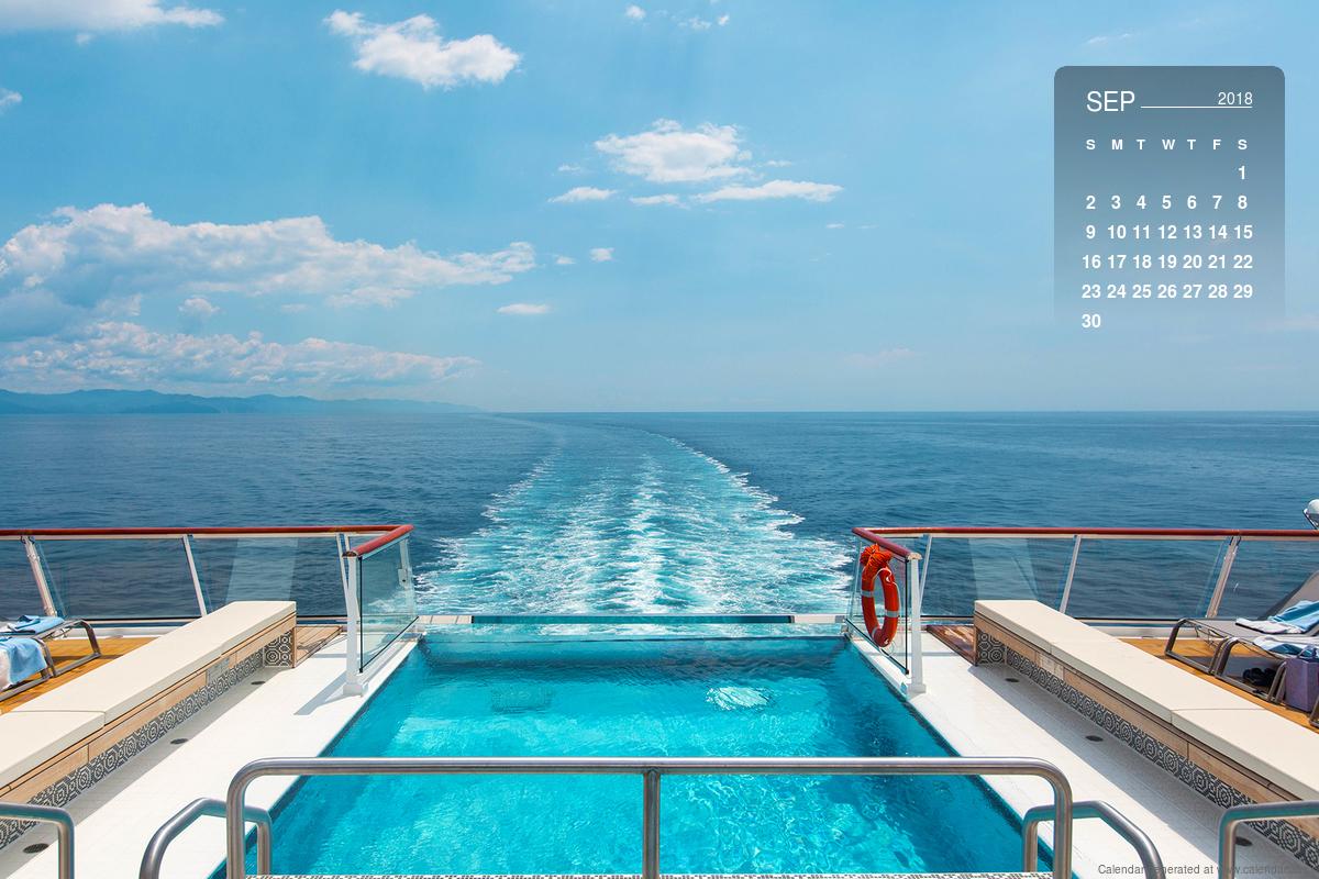 September 2018 Calendar Desktop Mobile Wallpaper Cruise