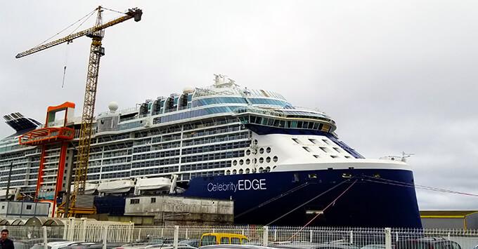 Exterior shot of Edge at the shipyard