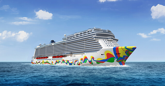 Rendering of the new Norwegian Encore hull art
