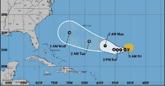 Tropical Storm Florence Forces Cruise Ships To Skip Bermuda