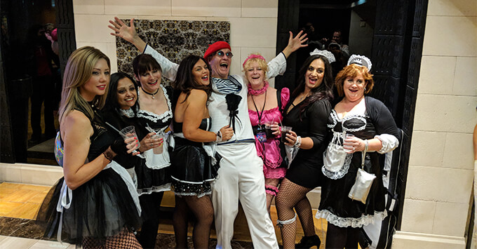 Captain Sensible and other passengers on The '80s Festival at Sea