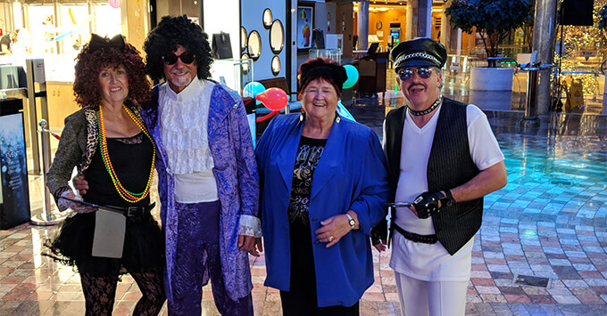 Fancy Dress on The '80s Festival at Sea