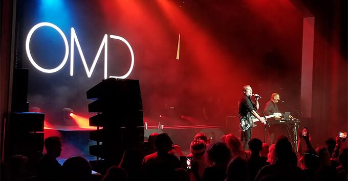 OMD performing on Navigator of the Seas