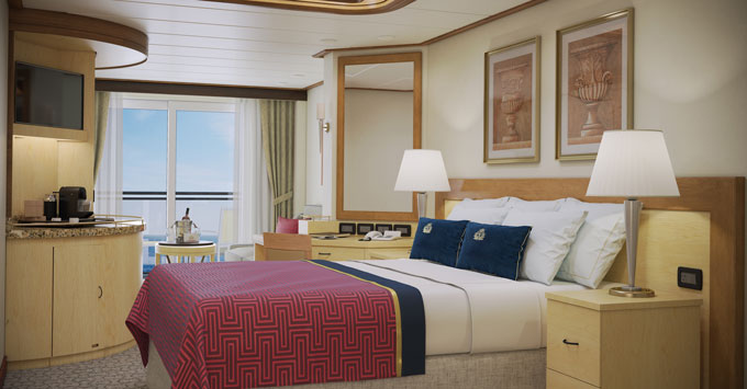 Cunard Line Queen Elizabeth Refurbished Princess Grill Cabin