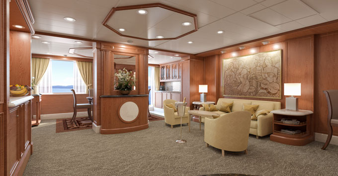 Cunard Line Queen Elizabeth Refurbished Master Suite