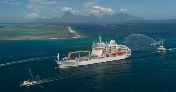 Freighter Ship Aranui Arrives In Tahiti For Upgraded Cargo Ship - Cruise to tahiti