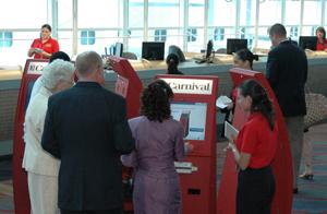Carnival Check In Kiosk