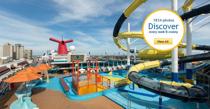Pool deck on Carnival Dream