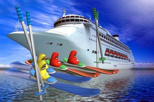 Onboard Skiing Cruise Ships In Space It Must Be April Fools Day - April cruises
