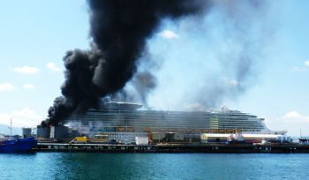 Oil Tank Explodes In Gibraltar Near Royal Caribbean Cruise Ship - Is there smoking on cruise ships