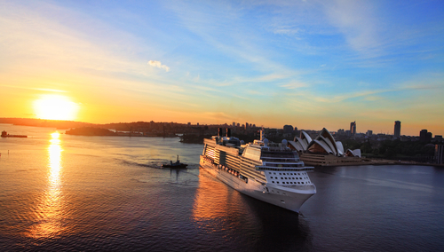 Celebrity cruise ship outside Sydney, Australia