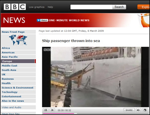 MSC Fantasia Gangway Collapse