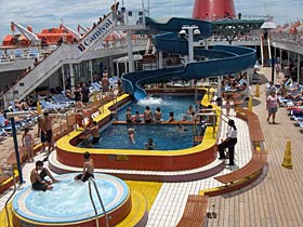 Carnival Elation Waterslide