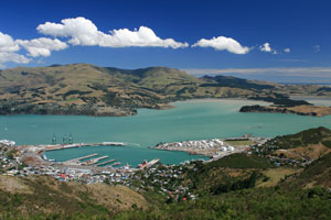 Lyttleton, New Zealand, site of February 22 earthquake