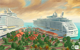 Artist's rendering of Falmouth