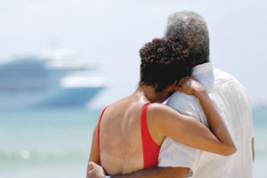 Romantic Couple on Princess Cruise Ship