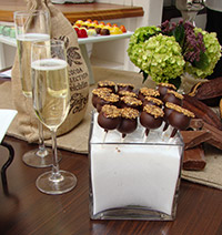 chocolate lollipops and champagne