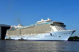 Quantum of the Seas Cruise Ship Successfully Floated OutQuantum Of The Seas Float Out