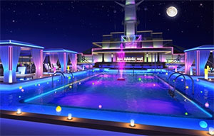 a rendering of the night sky lounge on princess cruises' regal princess