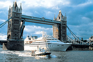 Seabourn Cruise Ship Tower Bridge London