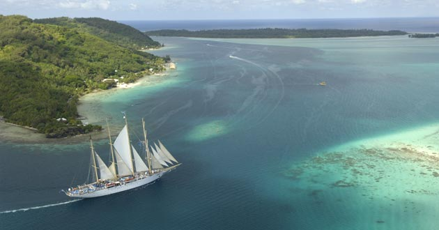 Tahiti Loses Another Cruise Ship In Star Clippers Cruise - Cruise to tahiti