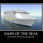 Oasis of the Seas: Like Freedom of the Seas on Steroids; appears courtesy of Cruiserccl