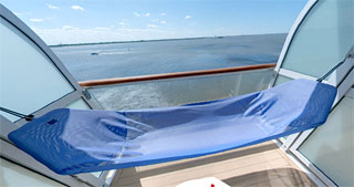 German cruise ship mein schiff launched tui cruises for Balcony hammock