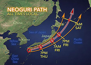 typhoon weather map