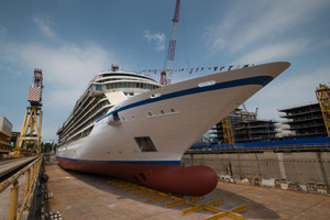 Viking Oceans Floats Out Newest Cruise Ship Viking Cruises - How do cruise ships float