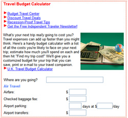 cruise critic s sister site sends travel budget calculator on maiden
