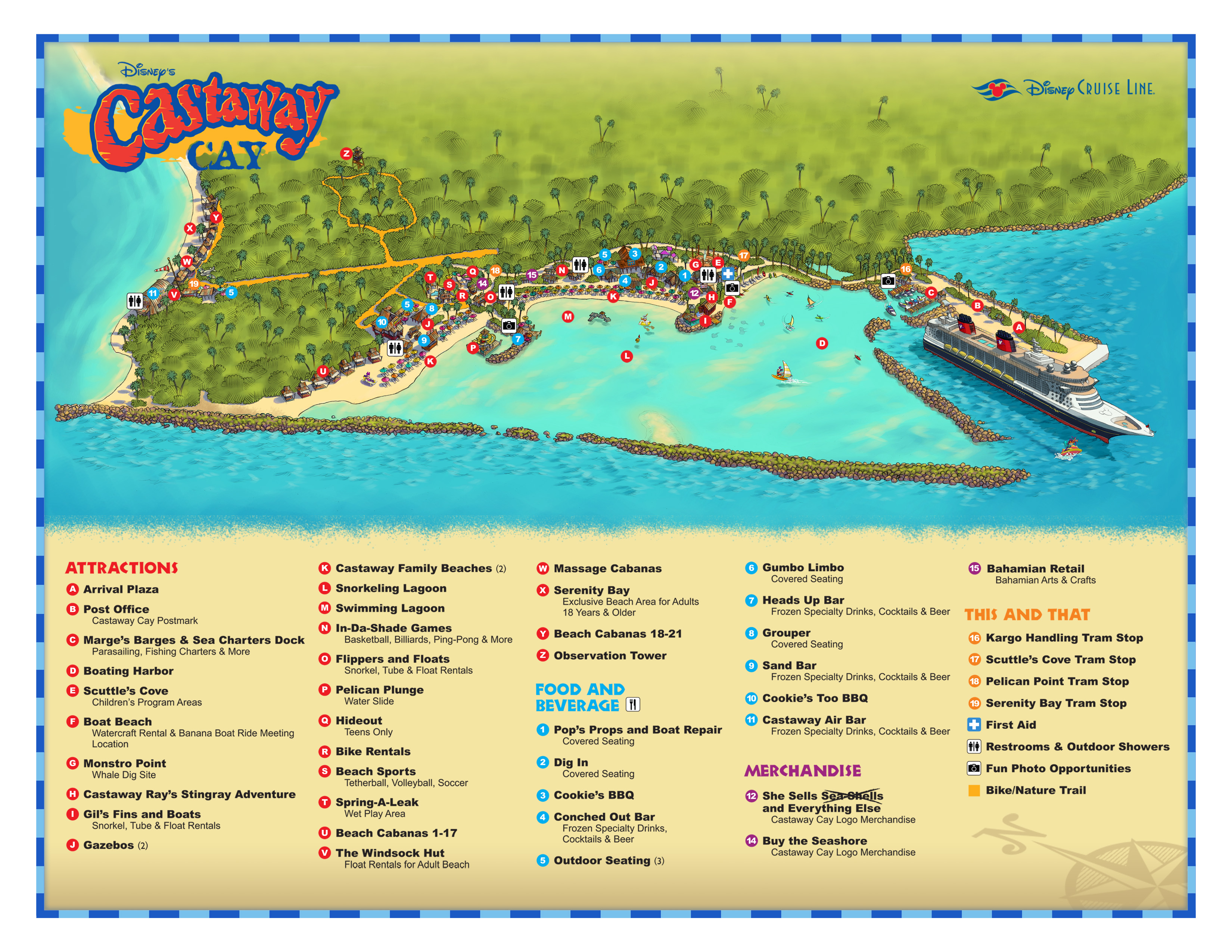 Castaway Cay Cruise Port Terminal Information For Port Of