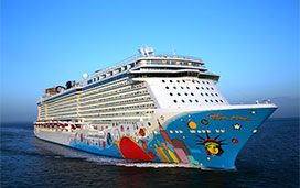 Norwegian Breakaway, one of the Norwegian Cruise Line ships to receive new main dining room menus and enhancements