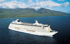 the crystal serenity cruise ship at sea