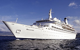 the former island princess cruise ship now known as mv discovery at sea