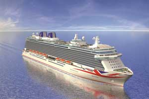 rendering of P&O Cruises' newest ship Britannia