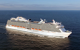 Regal Princess cruise ship at sea