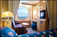 Oceanview Stateroom with Restrictions