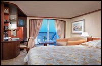 Deluxe Stateroom with Verandah (slightly limited view)