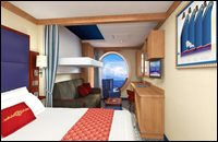 Deluxe Oceanview Stateroom with Porthole (obstructed view)