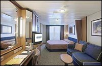 Deluxe Outside View Stateroom with Balcony