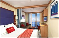 Deluxe Oceanview Stateroom with Verandah (undersized or obstructed verandah)