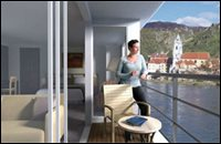 Suite with French balcony and outside balcony