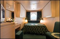 Oceanview Stateroom with Partial View – Bella