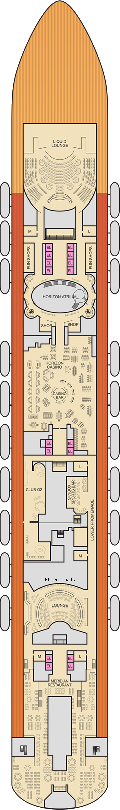 Carnival Horizon: Mezzanine Deck