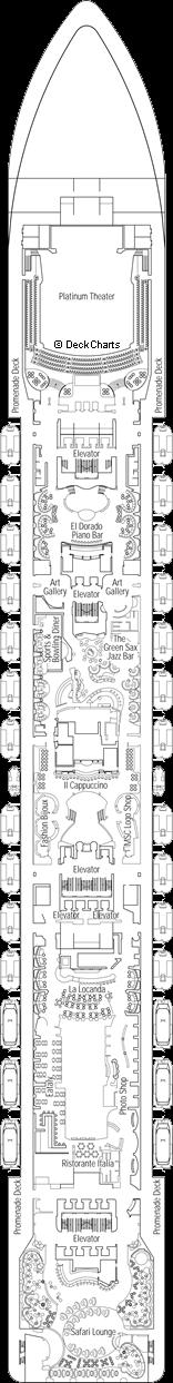 MSC Preziosa: Rubino Deck