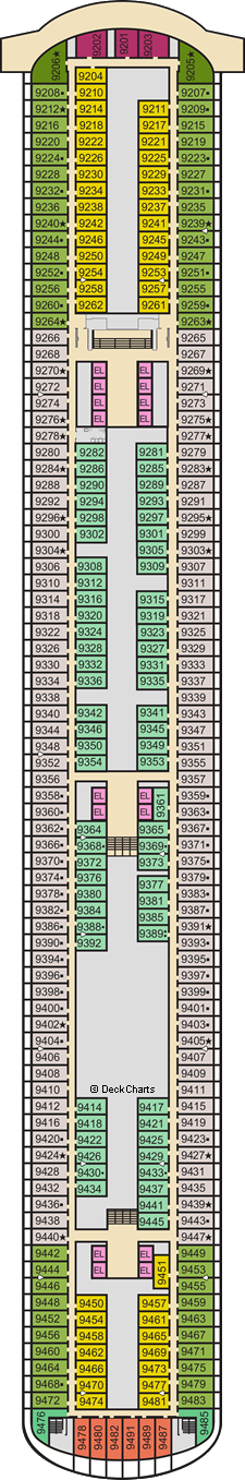 Carnival Panorama Deck Plans Ship Layout Staterooms Map