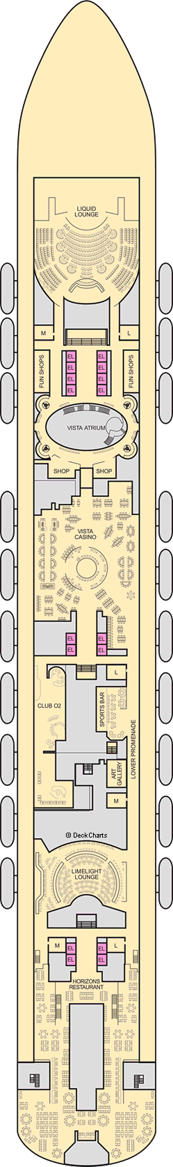 Carnival Vista: Mezzanine Deck