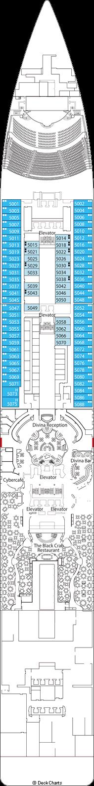 MSC Divina: Saturno Deck