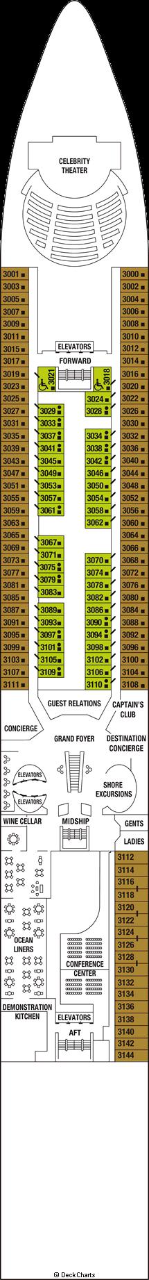 Celebrity Constellation: Deck 3